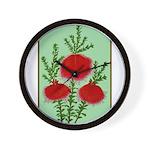 String Bell Vintage Flower Print Wall Clock
