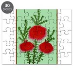 String Bell Vintage Flower Print Puzzle