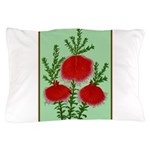 String Bell Vintage Flower Print Pillow Case