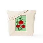 String Bell Vintage Flower Print Tote Bag
