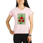 String Bell Vintage Flower Print Performance Dry T
