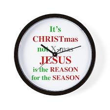 Christmas not XMAS Wall Clock
