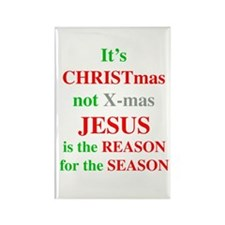 Christmas not XMAS Rectangle Magnet