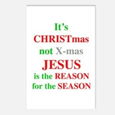 Christmas not XMAS Postcards (Package of 8)