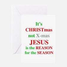 Christmas not XMAS Greeting Card