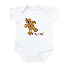 Oh Snap! Gingerbread Man Infant Bodysuit