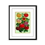 Chinese Lantern Vintage Flower Print Framed Panel