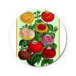 Chinese Lantern Vintage Flower Print Round Coaster