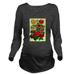 Chinese Lantern Vintage Flower Print Long Sleeve M