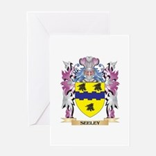 Seeley Coat of Arms - Family Crest Greeting Cards