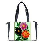 Colorful Flowers Vintage Poster Print Diaper Bag