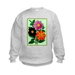 Colorful Flowers Vintage Poster Print Jumpers