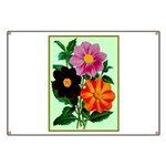 Colorful Flowers Vintage Poster Print Banner