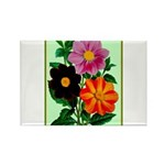 Colorful Flowers Vintage Poster Print Magnets