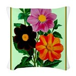 Colorful Flowers Vintage Poster Print Woven Throw