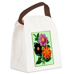 Colorful Flowers Vintage Poster Print Canvas Lunch