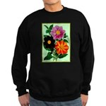 Colorful Flowers Vintage Poster Print Sweatshirt