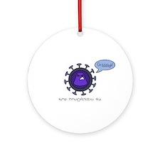 HIV Ornament (Round)