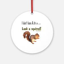 ADD Squirrel Ornament (Round)