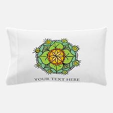 Floral mandala zen logo Pillow Case