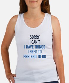 Sorry I Can't Women's Tank Top