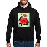 Red, Red Roses Vintage Print Hoodie