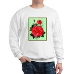 Red, Red Roses Vintage Print Sweater