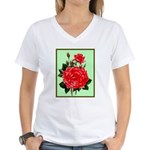 Red, Red Roses Vintage Print T-Shirt