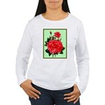 Red, Red Roses Vintage Print Long Sleeve T-Shirt