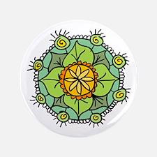 "Floral mandala zen logo 3.5"" Button (100 pack)"