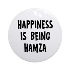 Happiness is being Hamza Ornament (Round)