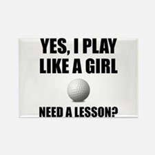 Like A Girl Golf Magnets