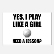 Like A Girl Golf Postcards (Package of 8)