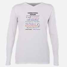 Correctional Officers Plus Size Long Sleeve Tee