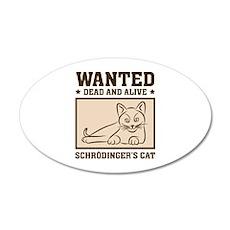 Schrodinger's Cat 22x14 Oval Wall Peel