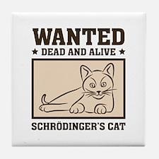 Schrodinger's Cat Tile Coaster