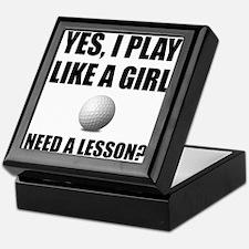 Like A Girl Golf Keepsake Box