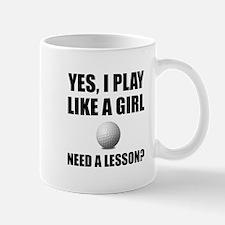 Like A Girl Golf Mugs