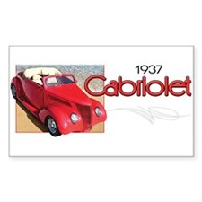 1937 Cabriolet Rectangle Decal