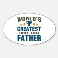World's Greatest Farter Sticker (Oval)