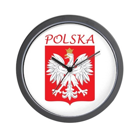 White Eagle and Polska Wall Clock