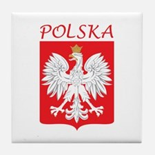 White Eagle and Polska Tile Coaster