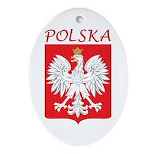 White Eagle and Polska Oval Ornament