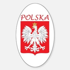 White Eagle and Polska Oval Decal