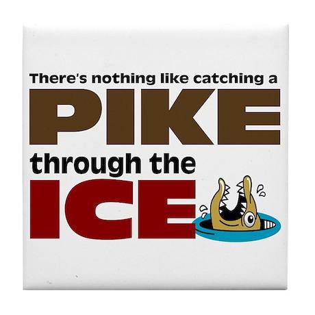Pike through the Ice Tile Coaster