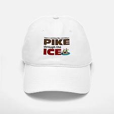 Pike through the Ice Baseball Baseball Cap