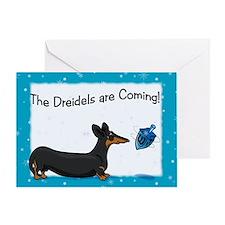 Dachshund Dreidel Hanukkah Card