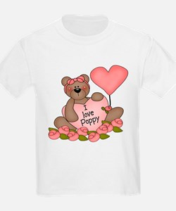 I LOVE Poppy CUTE Bear T-Shirt