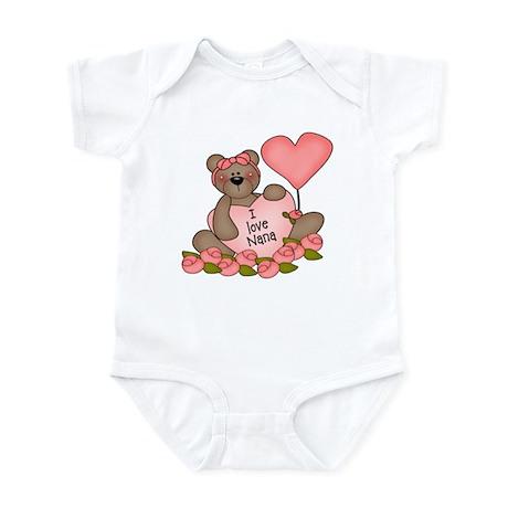 I LOVE Nana CUTE Bear Infant Bodysuit