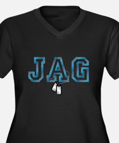jag Women's Plus Size V-Neck Dark T-Shirt